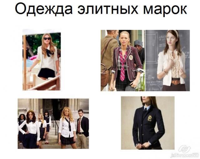 одежда элитных марок